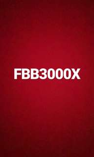 Number plate FBB3000X for sale