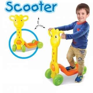 4 Wheels Giraffe Design Scooter
