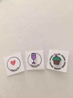 🚚 Handmade 2 x 2 cm mini cards