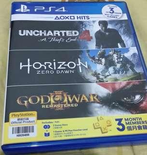 Jual BD PS4 uncharted 4 & Horizon zero dawn