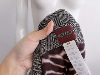 Auth KENZO black and white blazer