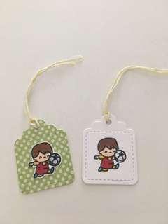 🚚 Handmade mini gift tags