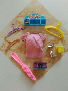 Assorted doll items