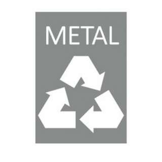 A4 size : Metal Recycle (Grey)