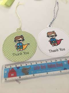 🚚 Handmade big gift tags