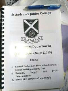 SAJC H1 Economics Lecture Notes