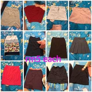 Branded skirt office formal wear free size M L black
