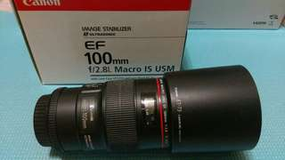 🚚 Canon EF 100mm f2.8L Macro IS USM