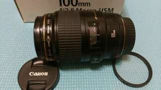 🚚 Canon EF 100mm f2.8 Macro USM.