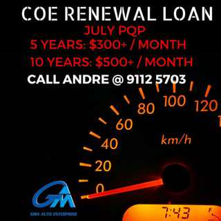 COE Renewal July PQP