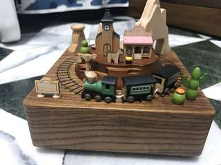 🚚 wooderful life 西部牛仔 城市音樂鈴 木質音樂盒