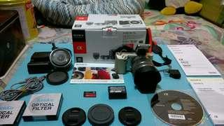 🚚 SONY NEX-5 +16mm + 閃燈 canon M3 可考慮