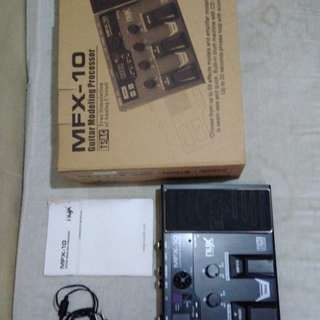 For Sale NUX MFX-10 (guitar effects with pedal wah)