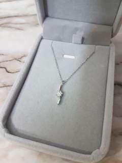 流星雨💫18k白金鑽石項鍊