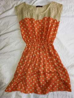 Hip Culture Polkadots Dress
