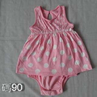 🚚 粉色包屁洋裝