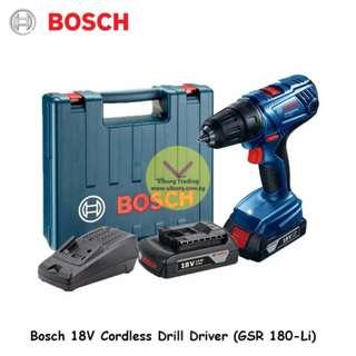 Bosch 18V Cordless Drill Driver (GSR 180-Li)