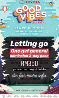 Good vibes festival 2018 gvf ticket