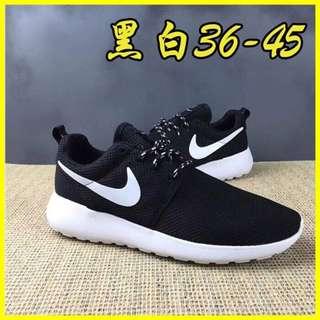 NIKE Roshe run 超輕量慢跑鞋 情侶款 nike鞋 倫敦奧運 休閒鞋 運動鞋 黑白 經典款