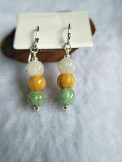 🚚 Jadeite Pumpkin S925 Earrings