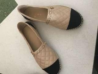 羊皮增高漁夫鞋 Chanel miumiu size 39-40