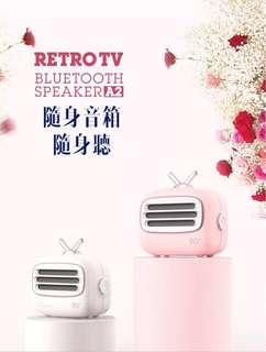 原裝正品RETRO TV 艾吾A2新款復古TV造型藍牙音箱