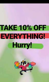 Grab a bargain + 10% off everything! Sale