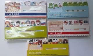 Assorted Stick & Memo Sheet Set