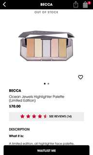 BECCA Ocean Jewels Highlighter Palette (LIMITED EDITION)