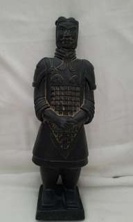 Cast iron terracotta soldier