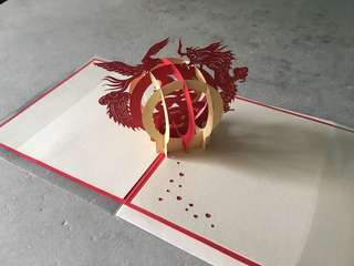 [POP UP] Wedding Card - Red (In Chinese)