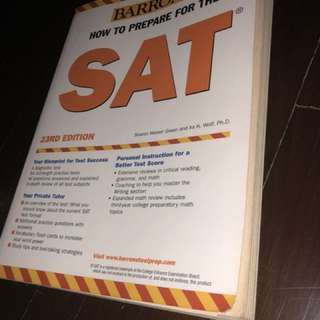 SAT prep book (barely used)