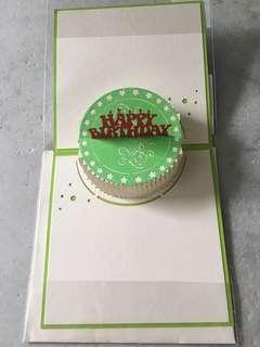 [POP UP] Birthday Card - Green