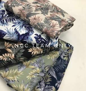 KAIN PASANG JAPANESE COTTON JUNGLE LEAF DESIGN