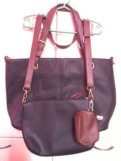 Jovanni Bag with sling bag and coin purse