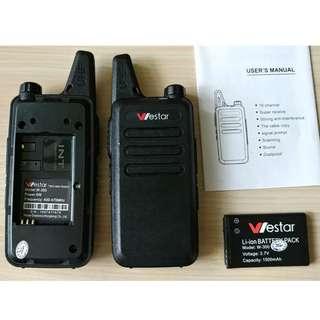 99%New台灣名牌Westar對講機 >>26公里專業型對講機清晰可靠充電可用15小時
