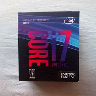 Intel Boxed Core i7 8700k Coffee Lake