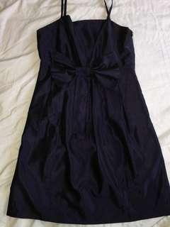 Ribbon Silk Violet Dress