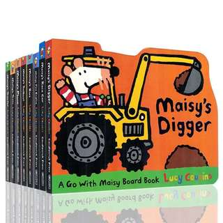 💥NEW-  Maisy Shaped Board 8 Books Set- Children story books