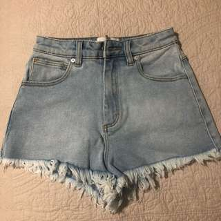 Designer denim shorts