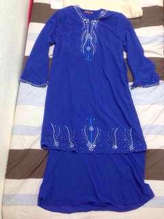 Double layered chiffon beaded baju kurung #july50