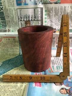 花梨木筆筒高118mm徑98mm重500克