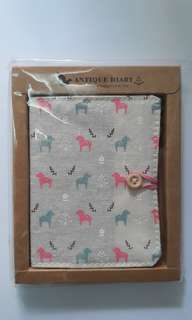 Cloth Horse Pattern Small Diary