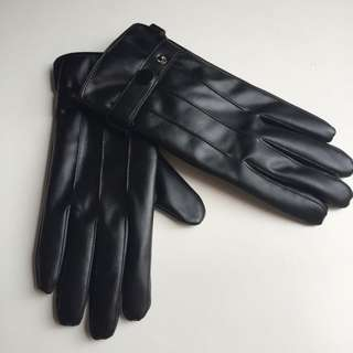 Winter Gloves Leather-like