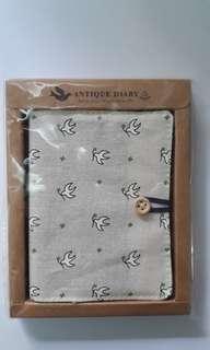 Dove Pattern Cloth Small Diary