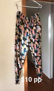 Floral pants size 12