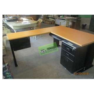 L-TYPE EXECUTIVE TABLE MOBILE PED CABINET HANGING DRAWER