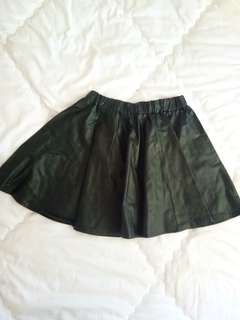 leather skirt black korean
