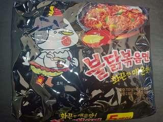 Bul dak bokkeum Myeon 5packs