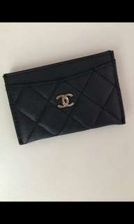 Chanel VIP gift card holder卡片包套荔枝皮紋